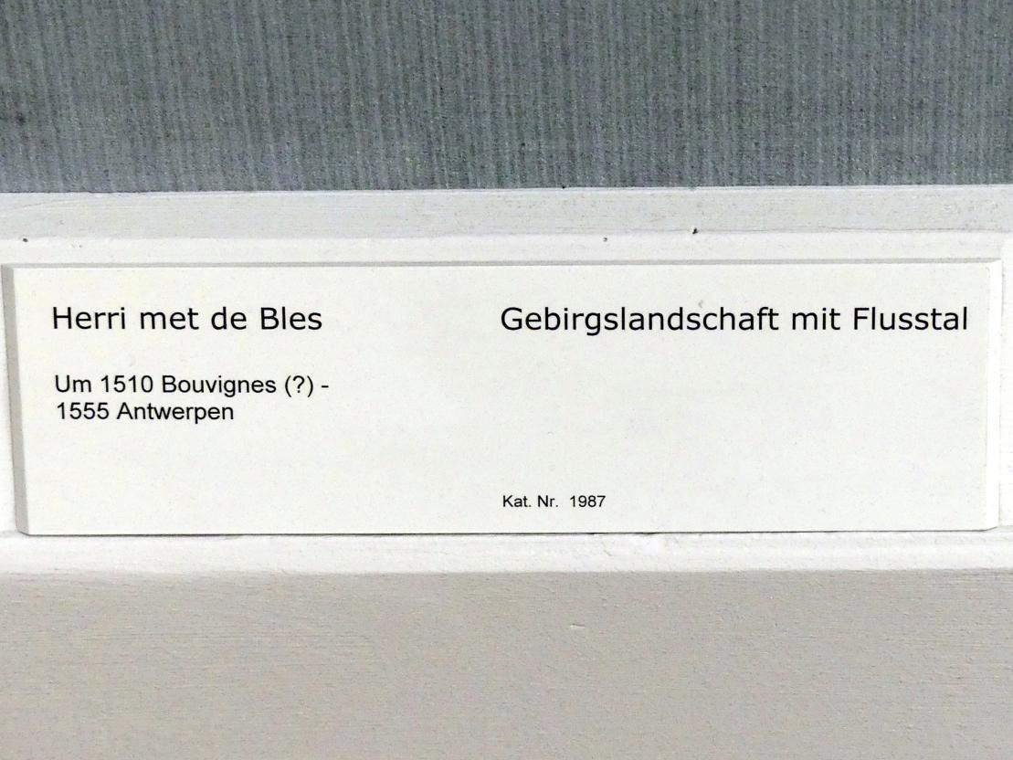 Herri met de Bles: Gebirgslandschaft mit Flusstal, Undatiert, Bild 2/2