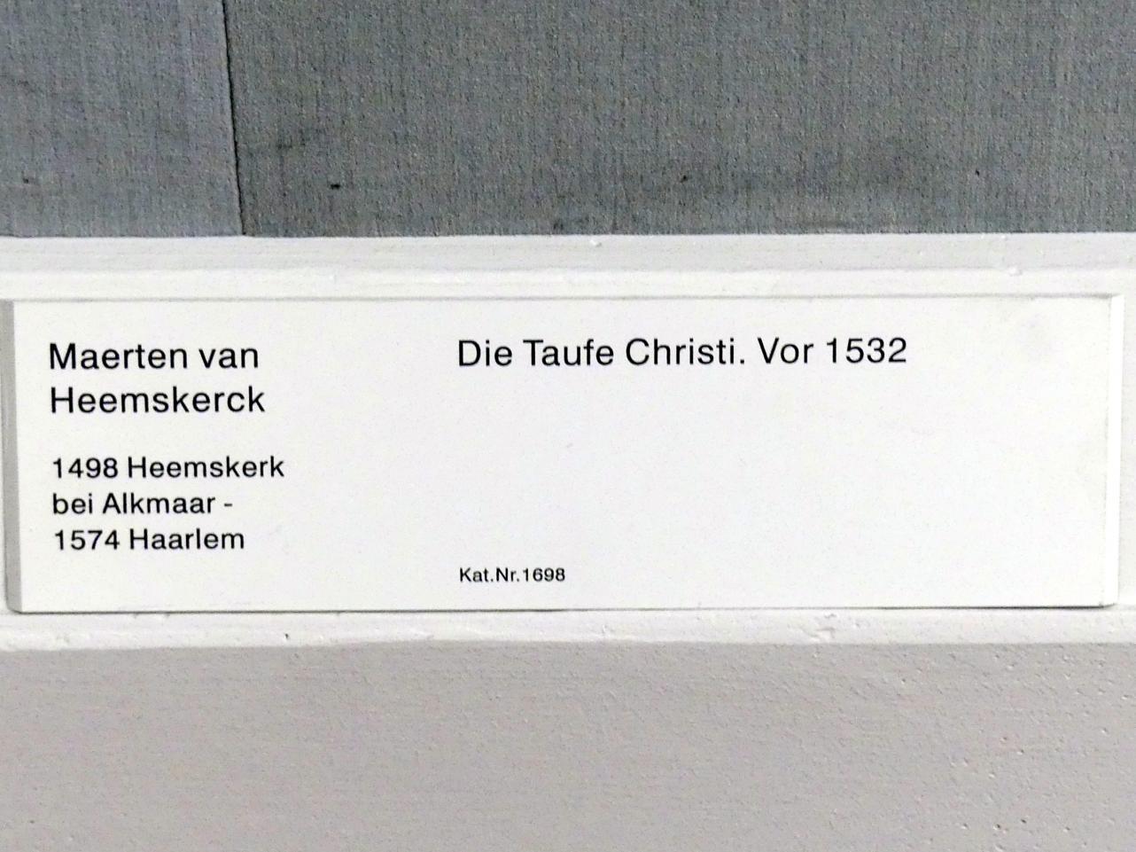 Maarten van Heemskerck: Die Taufe Christi, vor 1532, Bild 2/2