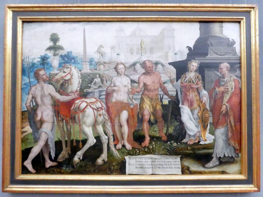 Maarten van Heemskerck: Modus tadelt die Werke der Götter, 1561