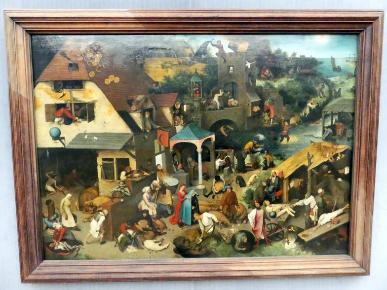 Pieter Brueghel der Ältere (Bauernbrueghel): Die niederländischen Sprichwörter, 1559