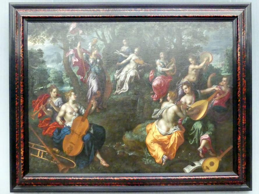 Hendrick de Clerck: Minerva bei den Musen, Undatiert