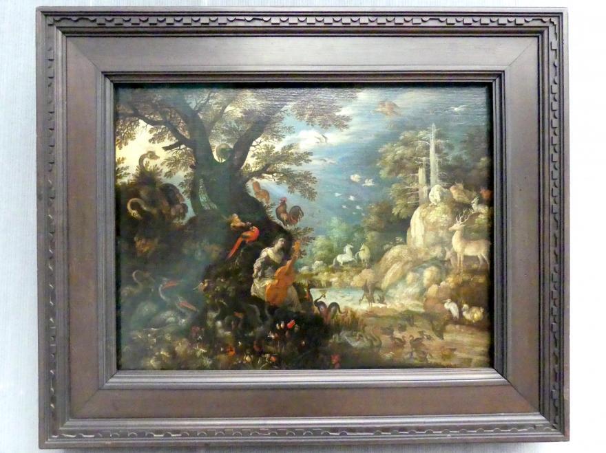 Roelant Savery: Landschaft mit Orpheus und den Tieren, 1611