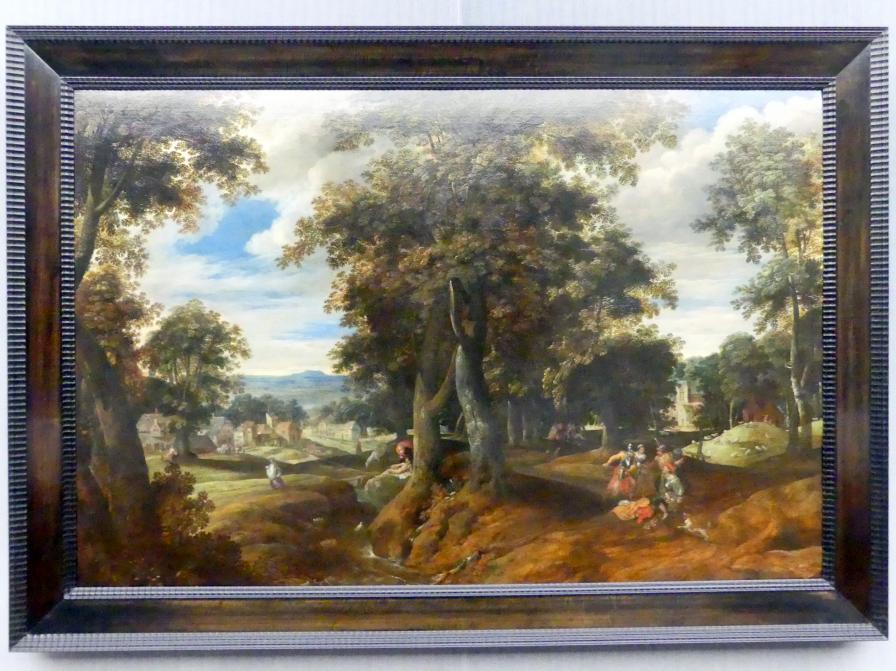 Cornelis Molenaer: Waldige Landschaft mit dem barmherzigen Samariter, Um 1580