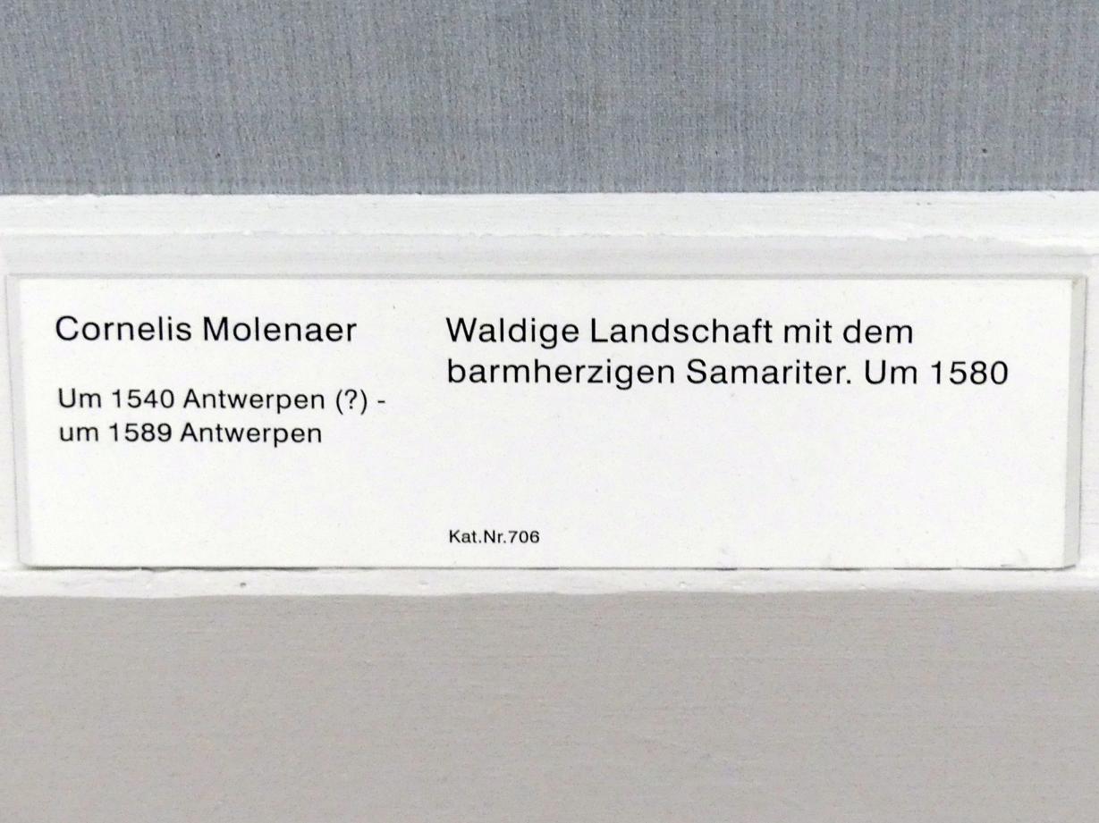 Cornelis Molenaer: Waldige Landschaft mit dem barmherzigen Samariter, um 1580, Bild 2/2