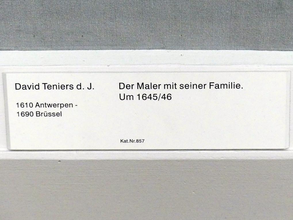 David Teniers der Jüngere: Der Maler mit seiner Familie, 1645 - 1646, Bild 2/2
