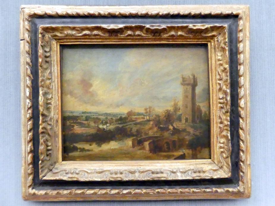 Peter Paul Rubens: Landschaft mit Turm, um 1638 - 1640