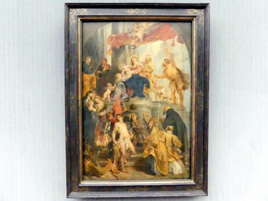 Peter Paul Rubens: Thronende Maria mit dem Kind und Heiligen, um 1627 - 1628