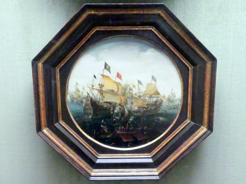 Aert Anthonisz.: Seeschlacht zwischen holländischen und spanischen Schiffen, 1604
