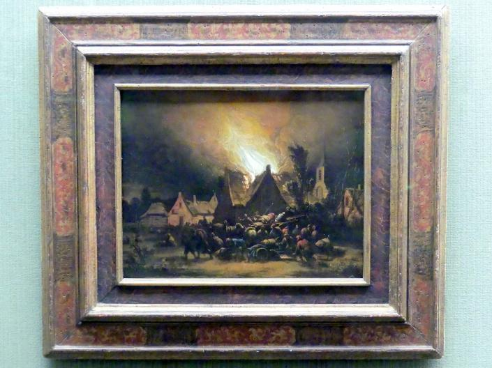 Egbert van der Poel: Nächtliche Feuersbrunst, 1654 - 1664
