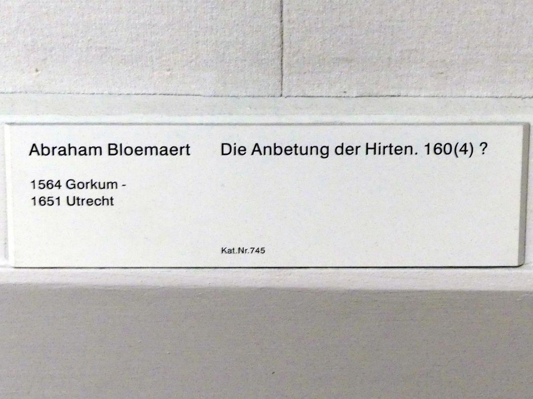 Abraham Bloemaert: Die Anbetung der Hirten, um 1604, Bild 2/2