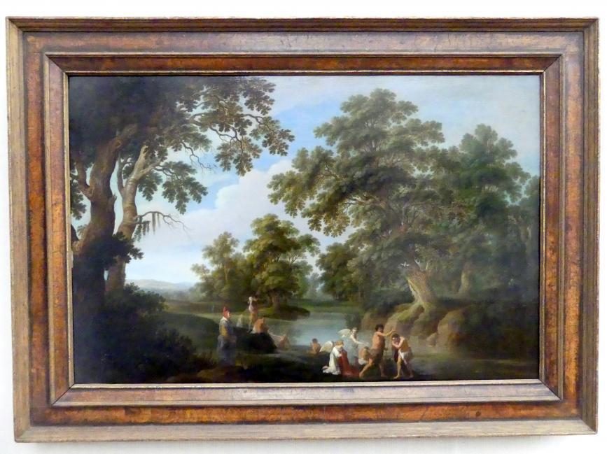 Alexander Keirincx: Waldlandschaft mit der Taufe Christi, 1635