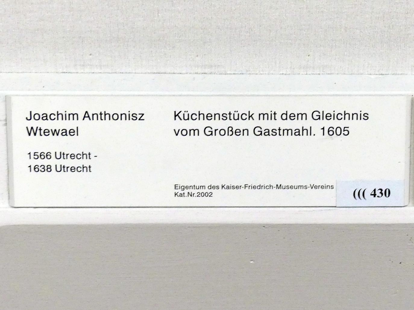 Joachim Anthonisz. Wtewael: Küchenstück mit dem Gleichnis vom Großen Gastmahl, 1605, Bild 2/2