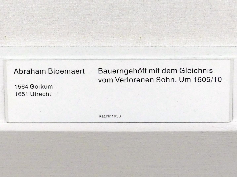 Abraham Bloemaert: Bauerngehöft mit dem Gleichnis vom Verlorenen Sohn, um 1605 - 1610, Bild 2/2