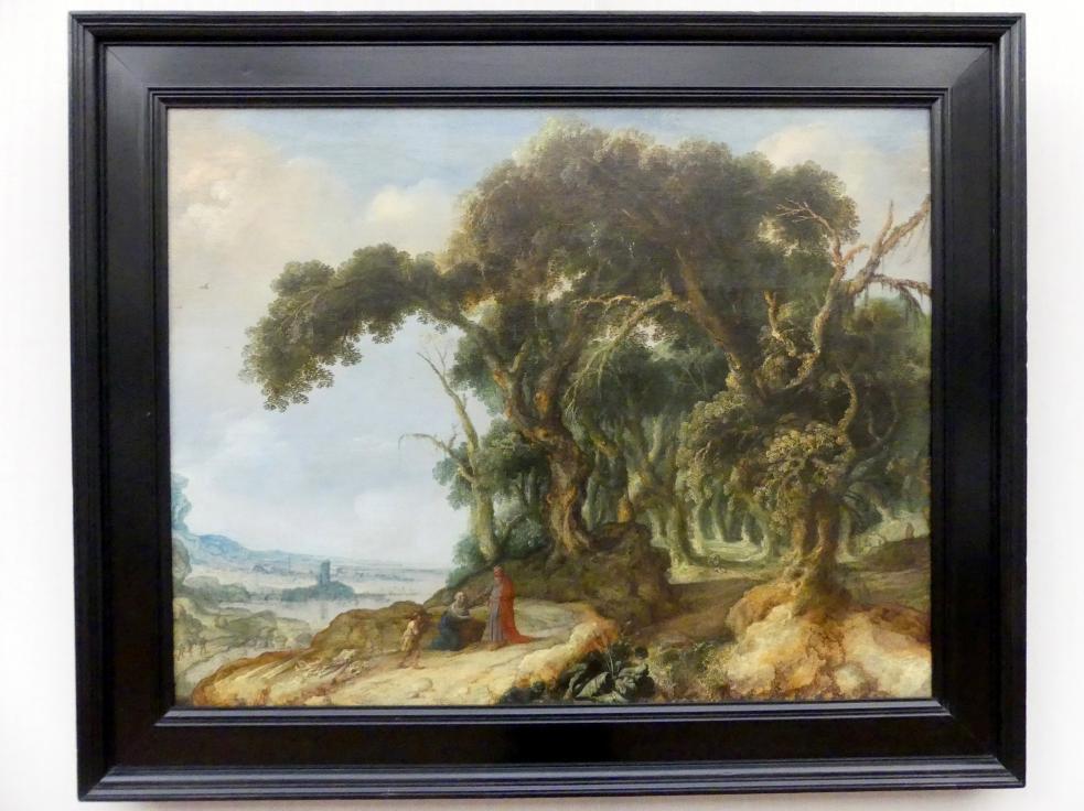 Jacob Jacobsz. van Geel: Waldige Landschaft mit Elias und der Witwe von Zarpath, Undatiert