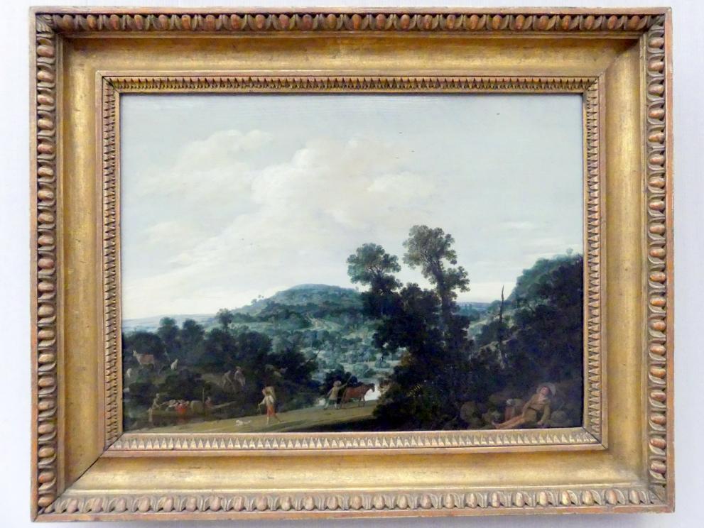 Salomon de Bray: Landschaft mit schlafendem Hirtenpaar, 1633