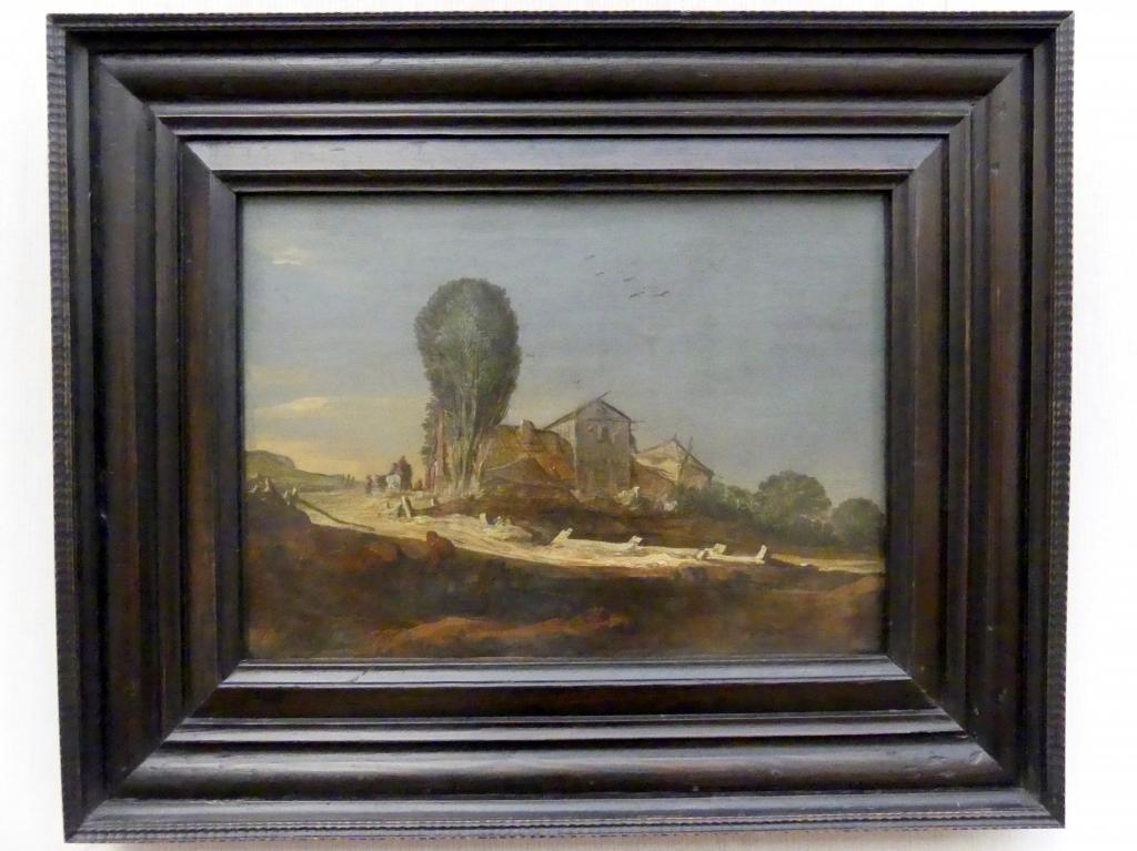 Pieter de Molijn: Dünenlandschaft mit Bauerngehöft (Der Abend), 1627