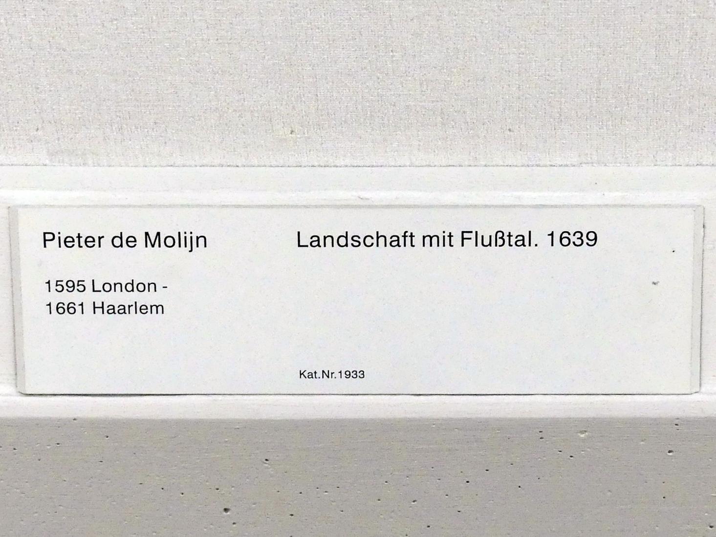 Pieter de Molijn: Landschaft mit Flußtal, 1639, Bild 2/2
