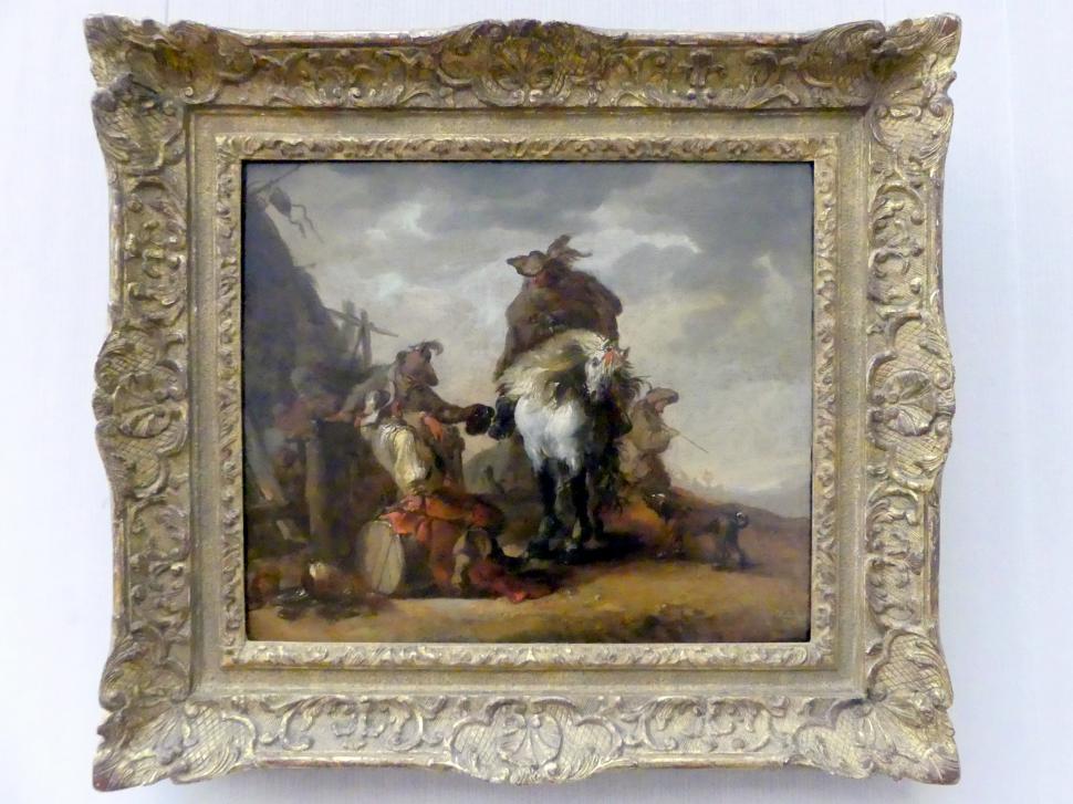 Matthias Scheits: Soldatenszene mit Reiter, um 1650