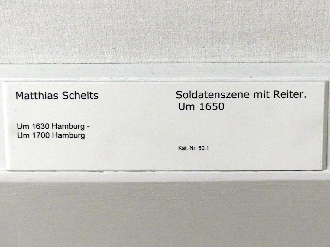 Matthias Scheits: Soldatenszene mit Reiter, um 1650, Bild 2/2