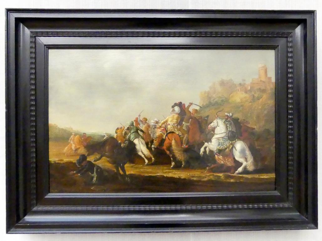 Pieter Cornelisz Verbeeck: Orientalische Reiter im Gefecht, 1638