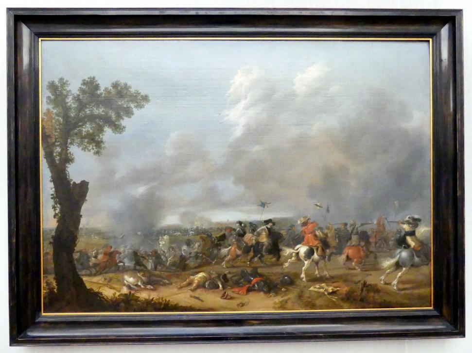 Jan Asselijn: König Gustav Adolf II. von Schweden in der Schlacht bei Lützen (1632), 1635