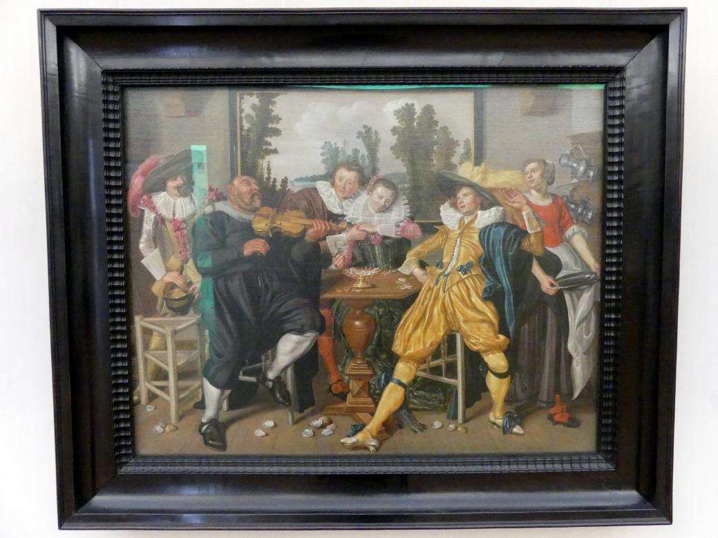 Willem Pietersz. Buytewech: Interieur mit fröhlicher Gesellschaft, um 1622 - 1624