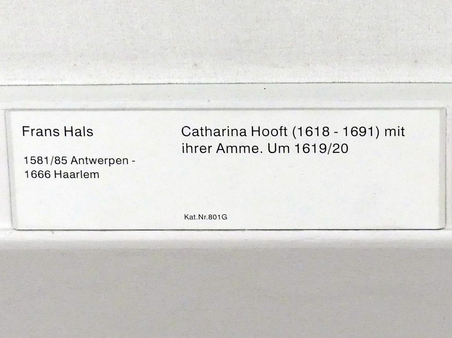 Frans Hals: Catharina Hooft (1618-1691) mit ihrer Amme, um 1619 - 1620, Bild 2/2
