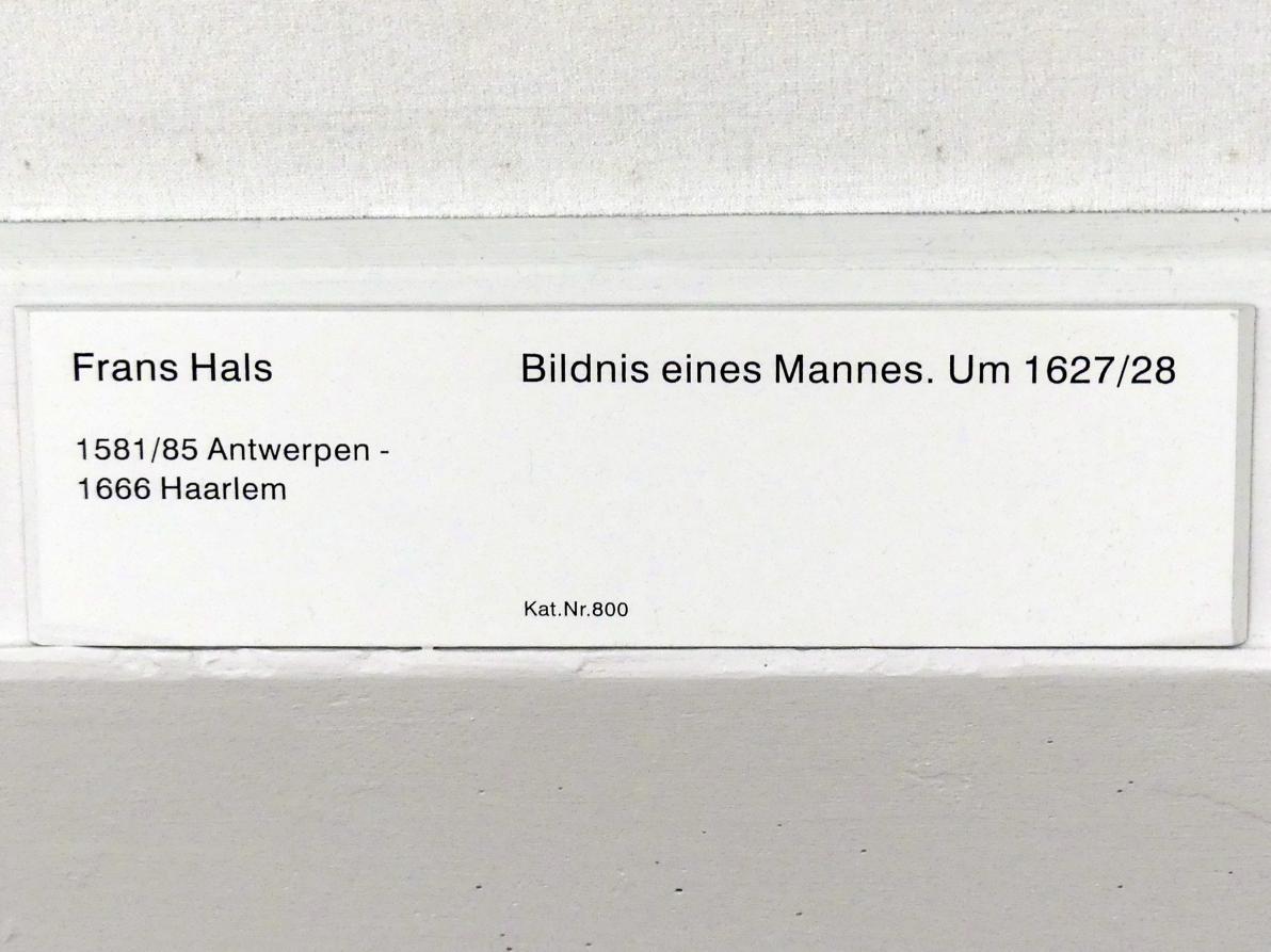 Frans Hals: Bildnis eines Mannes, Um 1627 - 1628
