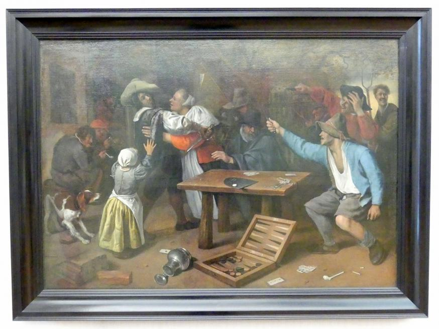 Jan Havickszoon Steen: Streit bei Kartenspiel, um 1664 - 1665