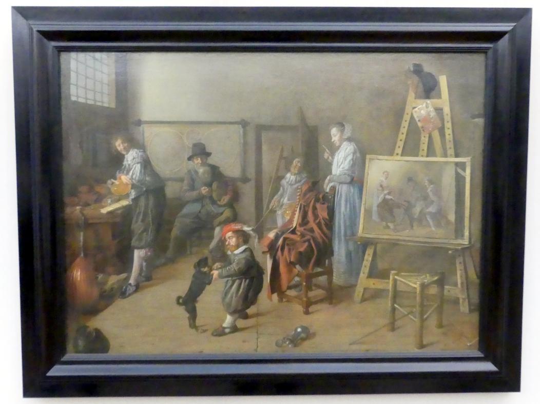 Jan Miense Molenaer: Die Werkstatt des Malers, 1631