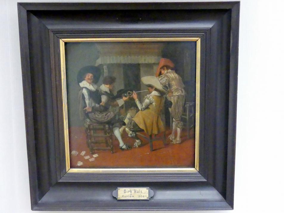 Dirck Hals: Herrengesellschaft am Kamin, 1627