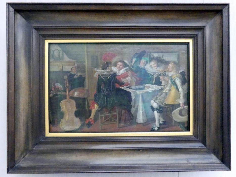 Dirck Hals: Interieur mit fröhlicher Tischgesellschaft, 1625 - 1630