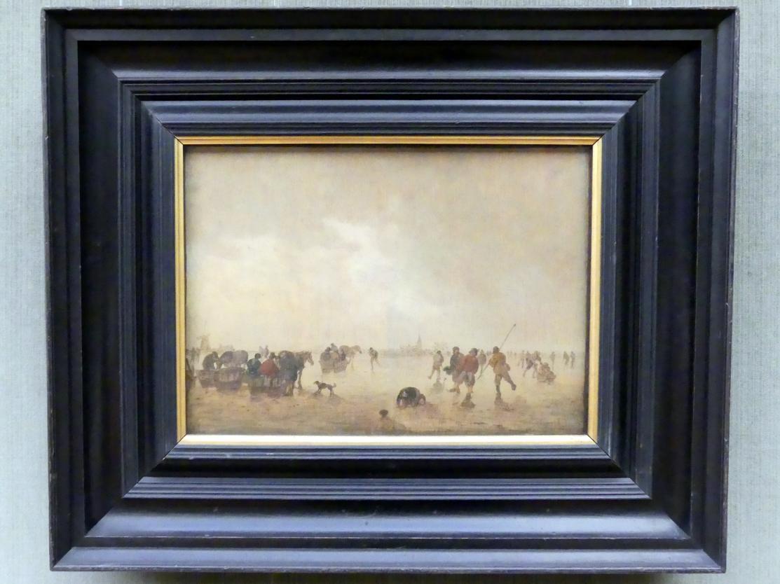 Jan van Goyen: Eislandschaft mit Schlittschuhläufern, 1643