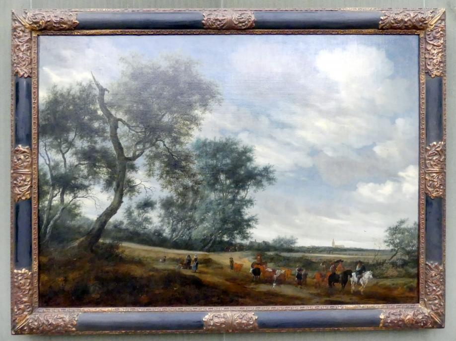 Salomon van Ruysdael: Holländische Landschaft mit Raubzug, 1656