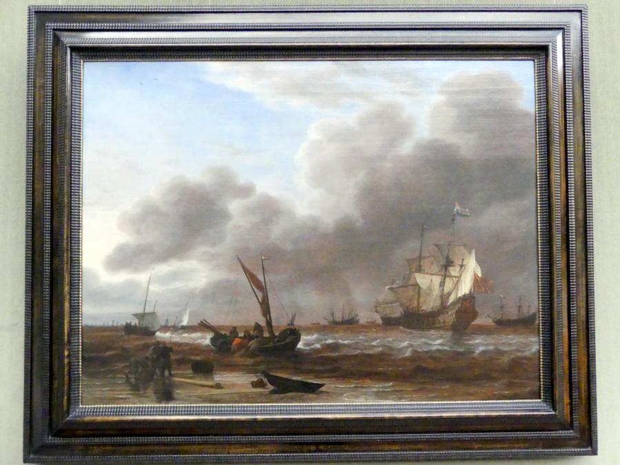 """Simon de Vlieger: Die Fregatte """"Amsterdam"""" vor Den Helder, um 1649 - 1650"""