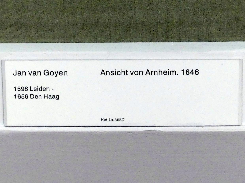 Jan van Goyen: Ansicht von Arnheim, 1646