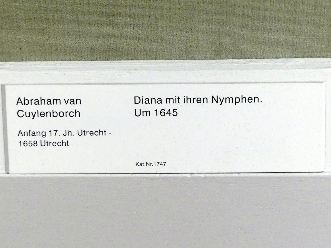Abraham van Cuylenborch: Diana mit ihren Nymphen, um 1645, Bild 2/2