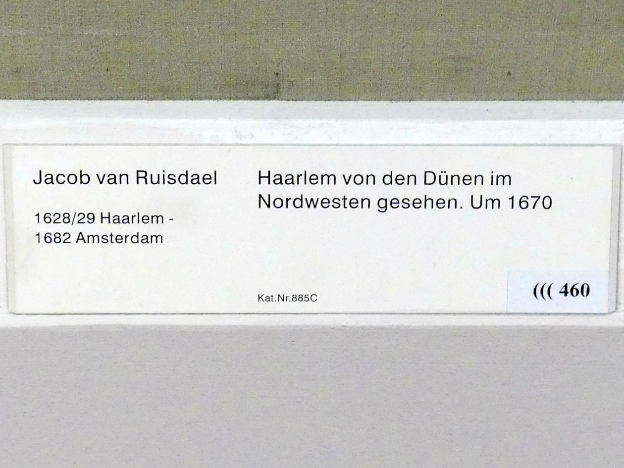 Jacob van Ruisdael: Haarlem von den Dünen im Nordwesten gesehen, Um 1670