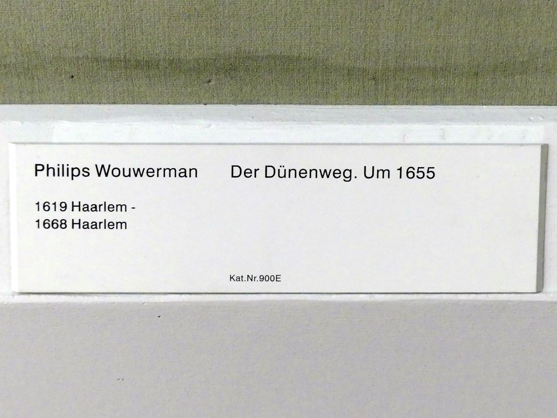 Philips Wouwerman: Der Dünenweg, um 1655, Bild 2/2