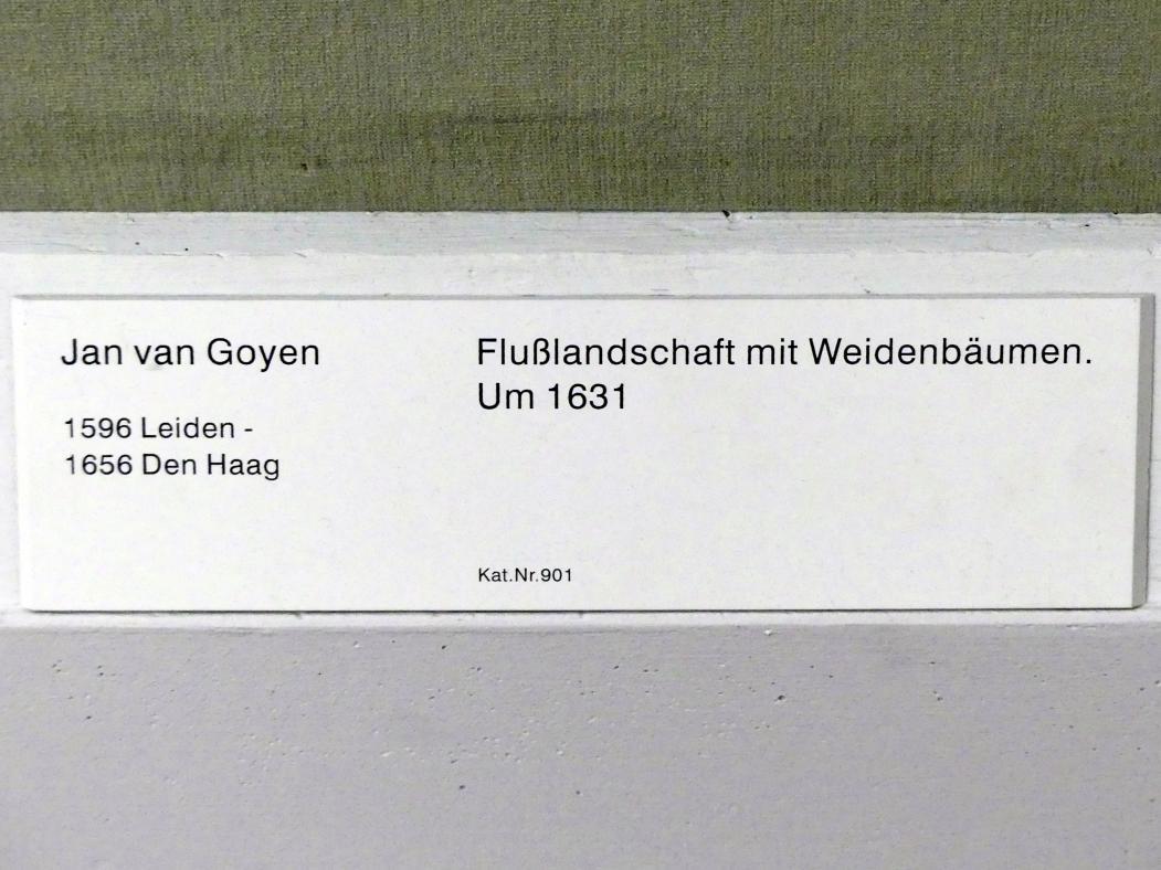 Jan van Goyen: Flusslandschaft mit Weidenbäumen, Um 1631