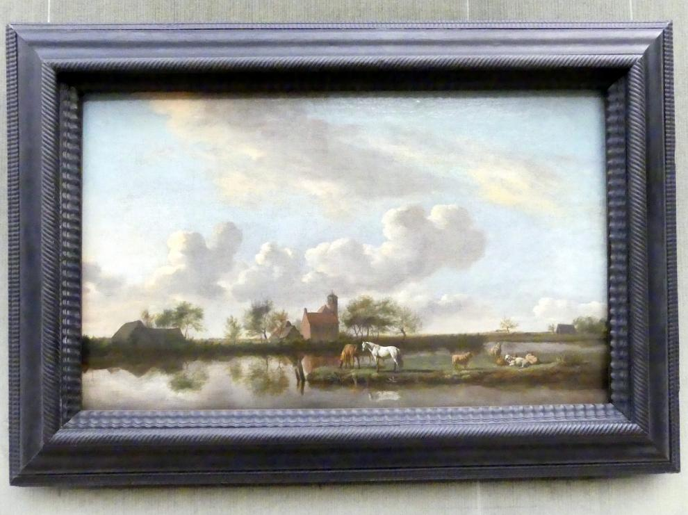 Adriaen van de Velde: Flache Flusslandschaft, Um 1660