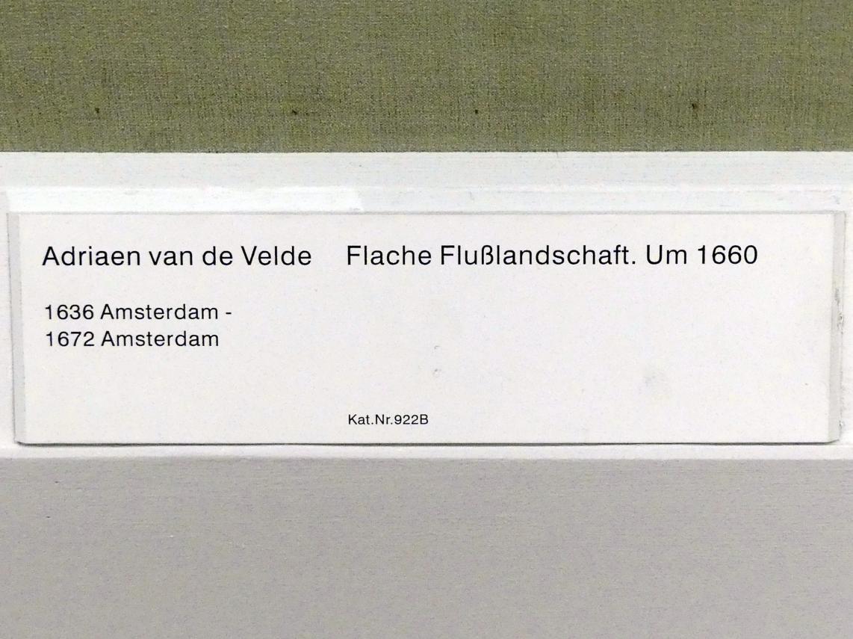Adriaen van de Velde: Flache Flusslandschaft, um 1660, Bild 2/2