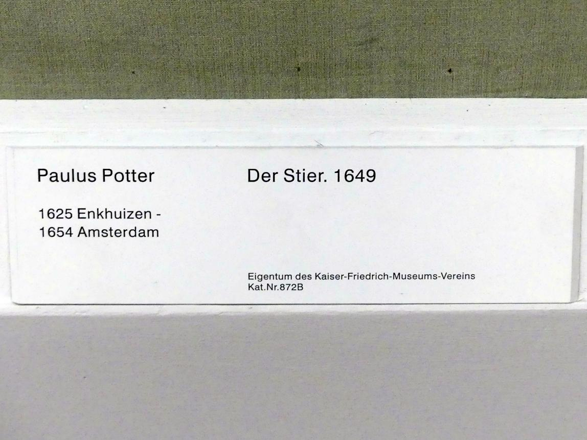 Paulus Potter: Der Stier, 1649