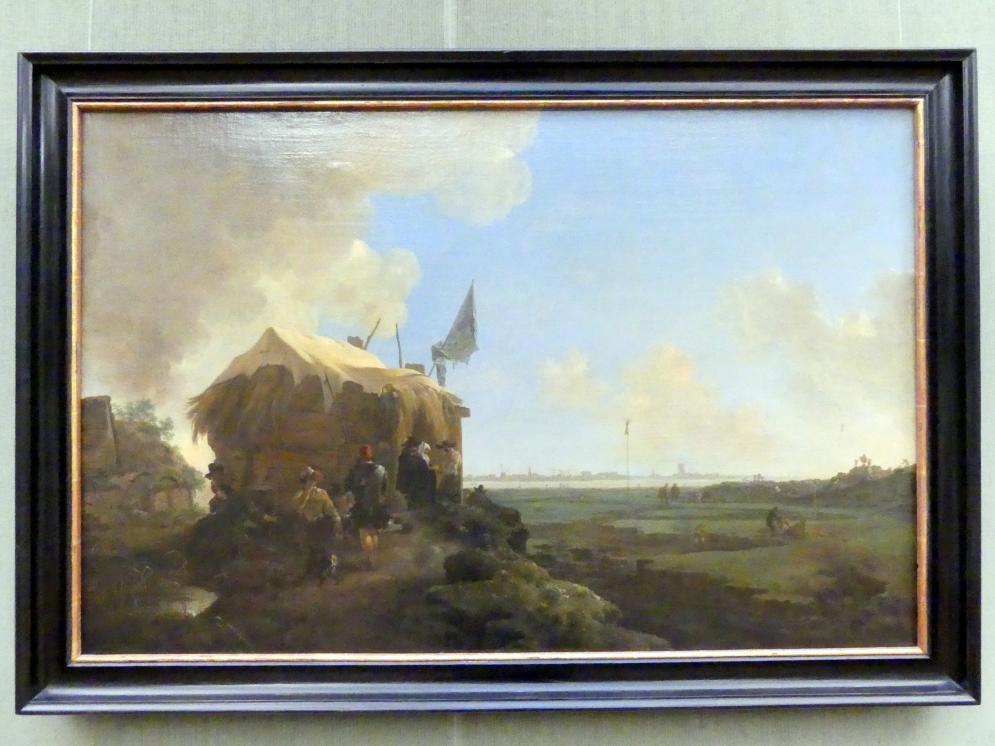 Jan Asselijn: Wiederaufbau des Muiderdeiches, Um 1651