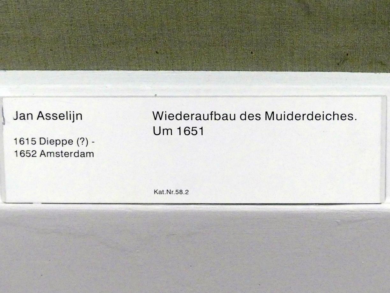 Jan Asselijn: Wiederaufbau des Muiderdeiches, um 1651, Bild 2/2