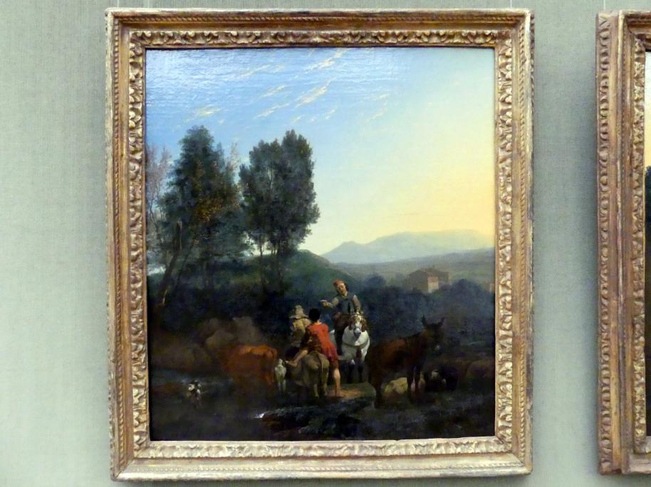 Karel Dujardin: Italienische Landschaft im Abendlicht (Der Abend), um 1658 - 1659