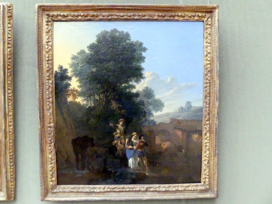 Karel Dujardin: Italienische Landschaft im Morgenlicht (Der Morgen), um 1658 - 1659