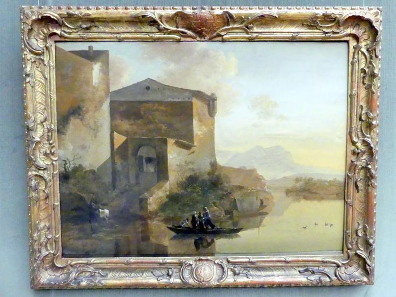 Adam Pynacker: Südliche Landschaft mit Gebäuden am Wasser, Um 1654 - 1659