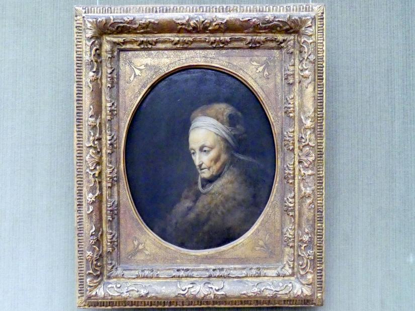 Gerard Dou (Gerrit Dou): Rembrandts Mutter, um 1630