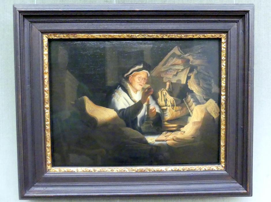 Rembrandt (Rembrandt Harmenszoon van Rijn): Das Gleichnis vom reichen Kornbauern (Der Geldwechsler), 1627